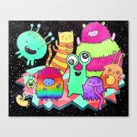 Intergalactic Dance Part… Canvas Print
