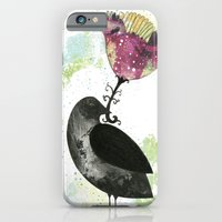 iPhone & iPod Case featuring The Crow and the Flower by Sarah Ogren