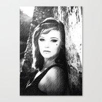 GIRL B&W Canvas Print