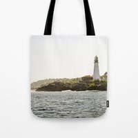Lighthouse In Portland, … Tote Bag