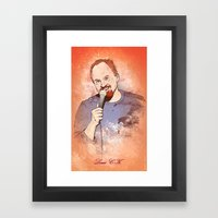 Make Me Laugh - Louis CK Framed Art Print