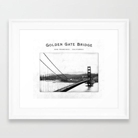 Golden Gate Bridge - San Francisco Framed Art Print