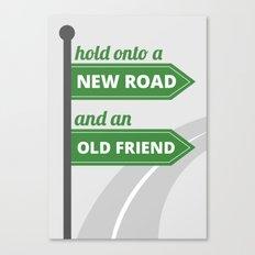 New road - old friend Canvas Print