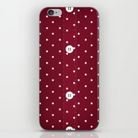 Red Polka Dot Button Up iPhone & iPod Skin