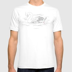 Smoking Swan Mens Fitted Tee White SMALL