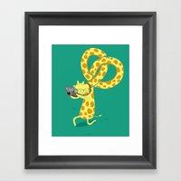A Giraffe Photographer Framed Art Print