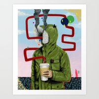 Caffeine Boost Art Print