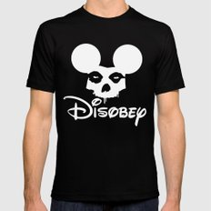 Disobey Black SMALL Mens Fitted Tee