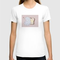 Kraken Toast Womens Fitted Tee White SMALL