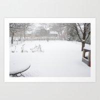The Backyard Art Print