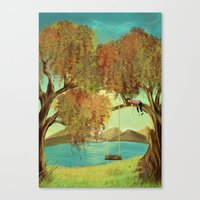 Canvas Print featuring peace by Esra Sabuncu (kiiarella)