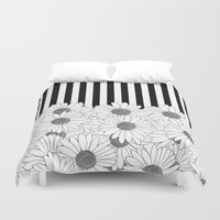 Daisy Stripe Duvet Cover