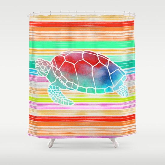 Turtle  by Jacqueline Maldonado & Garima Dhawan Shower Curtain