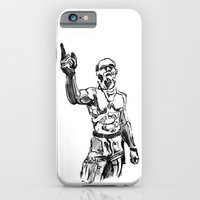 iPhone & iPod Case featuring Techno Viking Love  by Emily Blythe Jones