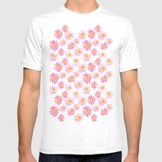 Daisy Mens Fitted Tee SMALL White