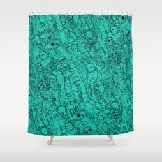 Space Toons Shower Curtain