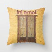 Internet Throw Pillow