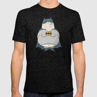 Too Fat To Bat Mens Fitted Tee Tri-Black SMALL