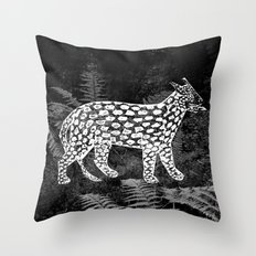 Forest Panther Throw Pillow