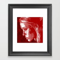 Thoughtful Woman Framed Art Print