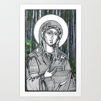 Madonna Of The Birches Art Print
