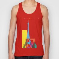 Shapes Of Paris. Accurat… Unisex Tank Top
