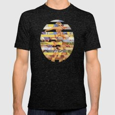 Glitch Pin-Up Redux: Cou… Mens Fitted Tee Tri-Black SMALL