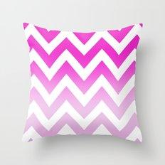 PINK CHEVRON FADE 2 Throw Pillow