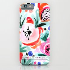 Tropical Sunrise Morning Glory Boho Watercolor Floral Slim Case iPhone 6s