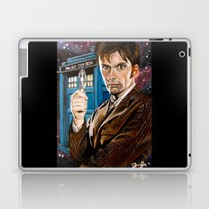 The Tenth Doctor and His TARDIS Laptop & iPad Skin