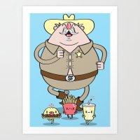 Sherif Fatman And Fast F… Art Print