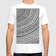 Black Pulse o1. Mens Fitted Tee White SMALL
