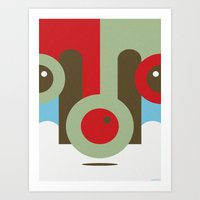 REINDEER GAMES Art Print