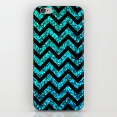 Chevron Aqua Sparkle iPhone & iPod Skin
