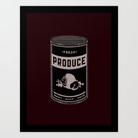 Fresh Canned Produce Art Print