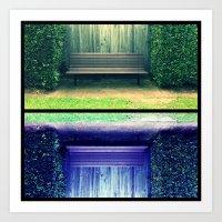 Park Benches Art Print