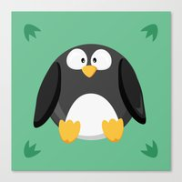Penguin From The Circle … Canvas Print