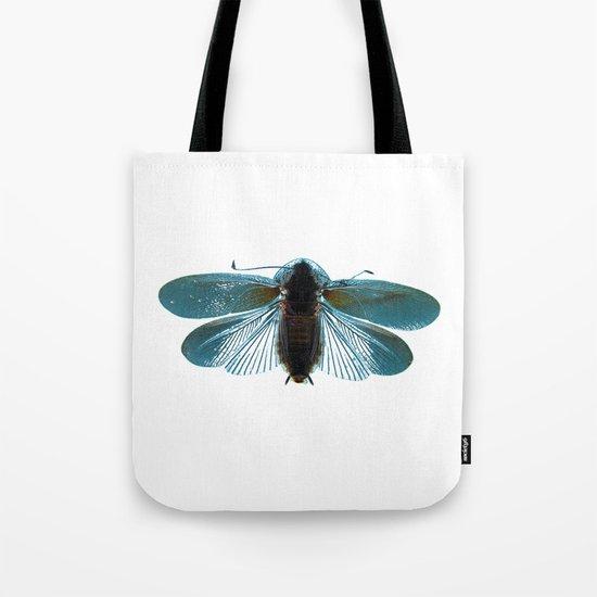 Blue Moth Tote Bag