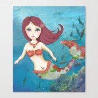 Somewhere Under The Sea Canvas Print