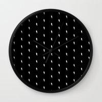 Lightning Bold Pattern B… Wall Clock