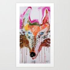Summer Wolf Art Print