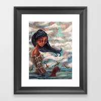 The Longing:  A Selkie's Song Framed Art Print