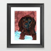 Cute Puppy Framed Art Print