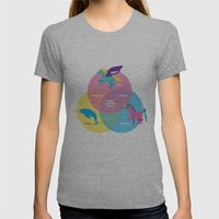 Magic Sparkles & Love Womens Fitted Tee Athletic Grey SMALL
