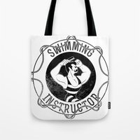 Swimming Instructor Tote Bag