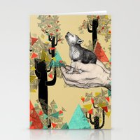 wolf Stationery Cards featuring Found You There  by Sandra Dieckmann