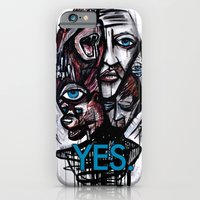 iPhone & iPod Case featuring YES bear by mark kowalchuk