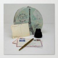 Love Letters From Paris … Canvas Print