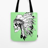 Black And White Native A… Tote Bag