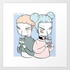 BOBA TWINS Art Print